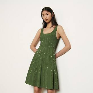 Sandro Knitted dress with bead jewels
