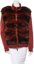 Roberto Cavalli Chinchilla Trimmed Cardigan