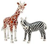 Godinger Giraffe & Zebra Salt & Pepper Shakers