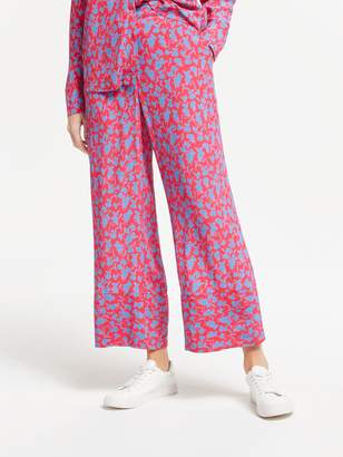 Rosalie Finery Floral Wide Leg Trousers, Shadow