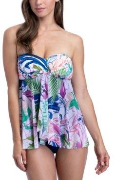 Gottex Club Tropicana Printed Flyaway Tummy Control One-Piece Swimsuit Women's Swimsuit