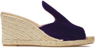 Manebi Hamptons Velvet Wedge Espadrille Sandals