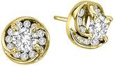 FINE JEWELRY 1 CT. T.W. Diamond Stud Earrings in 14K Yellow Gold