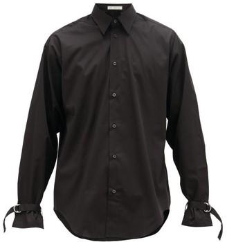 Umit Benan B+ - D-ring Cuff Cotton-poplin Shirt - Mens - Black
