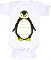 Charm City Tees Penguin with Stitching Cute Baby Onesie