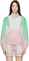 Sjyp Pink and Green Colorblock Windbreaker Jacket