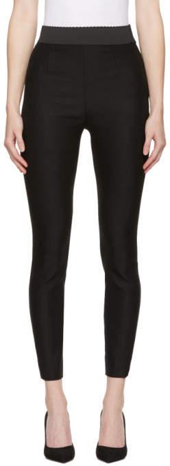 Dolce & Gabbana Black Wool Leggings