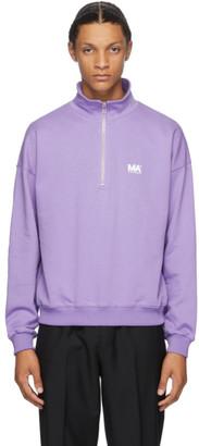 Martin Asbjorn Purple Turtleneck Sweatshirt