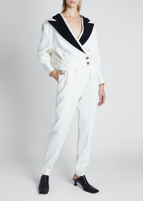 Proenza Schouler Viscose Long-Sleeve Asymmetrical Blazer Jacket