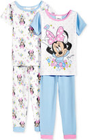 4-Pc. Minnie Mouse Cotton Pajama Set, Toddler Girls (2T-5T)