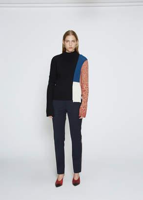 Calvin Klein Colorblocked Mockneck Knit