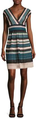 M Missoni Striped Multi-Laced Dress