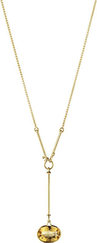 Georg Jensen Savannah 18ct gold and citrine necklace