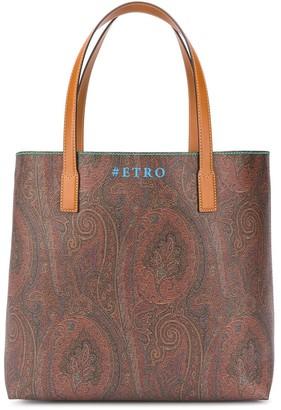 Etro Logo Tote Bag