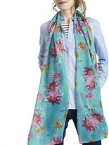Joules Wensley Floral Print Scarf, Teal/Multi