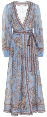 Zimmermann Fiesta cotton wrap dress