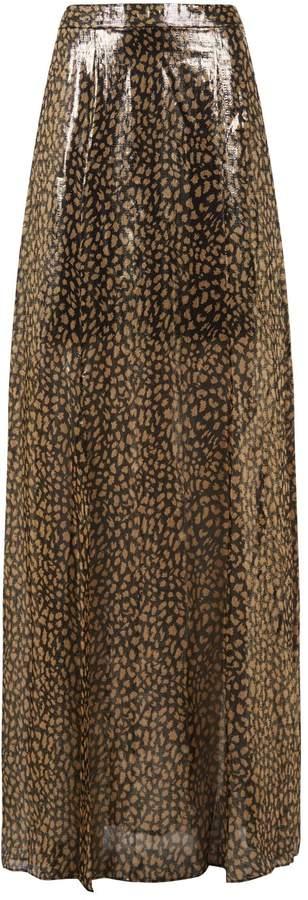 Athena Leopard Print Maxi Skirt