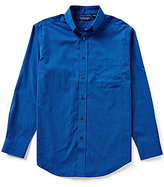 Roundtree & Yorke Silky Finish Long-Sleeve Repeating Dot Print Woven Sportshirt