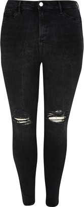 River Island Womens Plus Black Molly mid rise jegging