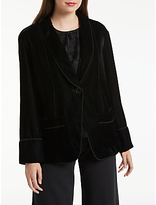 Max Studio Velvet Jacket, Black