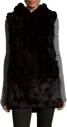 Belle Fare Plush Dyed Rabbit Fur Vest