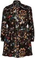 River Island Womens Plus black floral print shirt dress