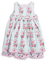 Laura Ashley Girls 2-6x Floral-Print Sleeveless Dress