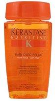 Kérastase Nutritive Bain Oleo-Relax Smoothing Shampoo For Dry and Rebellious Hair, 8.5 Ounce