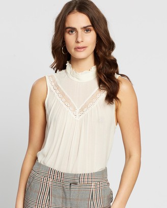 Vero Moda Women's White Lace Tops - Kirsten Top - Size One Size, XS at The Iconic