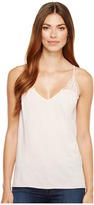 Michael Stars V-Neck Strappy Tank Top w/ Crochet Women's Sleeveless