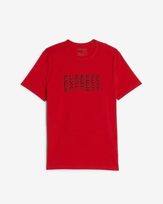 Express Red Moisture-Wicking Logo Graphic T-Shirt