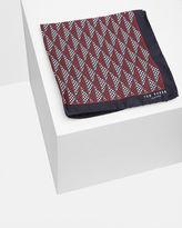 SPOTMEN Geo print silk pocket square