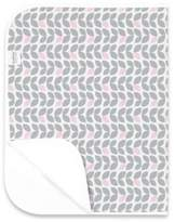 Kushies Deluxe Flannel Changing Pad in Petal Grey