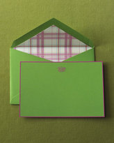 Apple Green Cards & Madras-Lined Envelopes