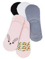 Charlotte Russe Assorted Bunny Shoe Liners - 5 Pack