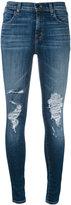J Brand Maria Decoy destroyed jeans - women - Cotton/Polyurethane - 29