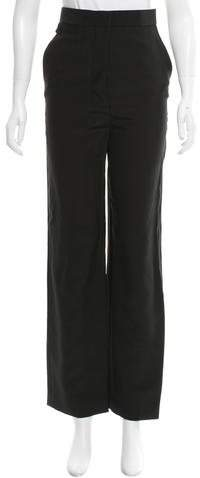Celine High-Rise Satin-Accented Pants