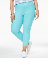 Hue Women's Plus Size Essential Denim Capri Leggings