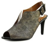 J. Renee Myra Women Peep-toe Suede Bronze Slingback Heel.