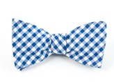 The Tie Bar Royal Blue New Gingham Bow Tie