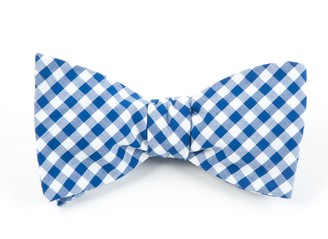Tie Bar New Gingham Royal Blue Bow Tie