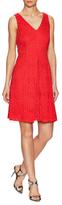 Donna Ricco V-Neck Lace Flare Dress