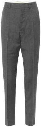 AMI Paris High-rise slim wool pants