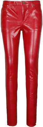 Saint Laurent Vinyle Shiny 5 Pockets Jeans