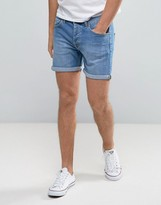 Dr. Denim Trench Denim Shorter Shorts Organic Light Blue