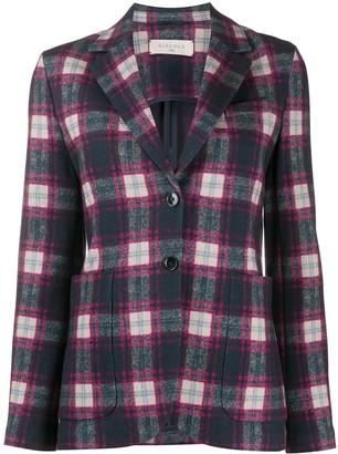 Circolo 1901 Buttoned Up Check Pattern Blazer