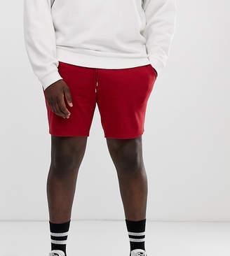 Asos Design DESIGN Plus jersey skinny shorts in bright red
