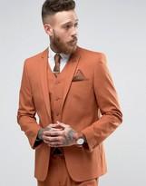 Asos Skinny Suit Jacket In Rust
