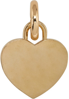 Laura Lombardi SSENSE Exclusive Gold Heart Collar Charm