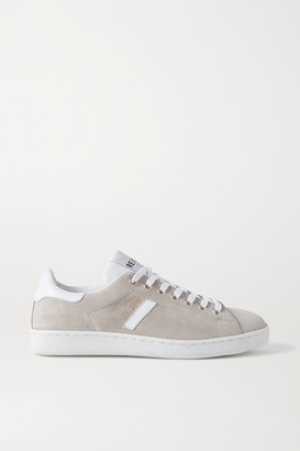 RE/DONE 70s Tennis Leather-trimmed Suede Sneakers - Gray